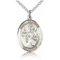 St. Matthew the Apostle Medal - Sterling Silver - Medium, Engravable  (#85632)