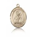 St. Timothy Medal - 14 KT Gold - Medium, Engravable  (#83569)