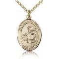 St. Thomas Aquinas Medal - Gold Filled - Medium, Engravable  (#83577)