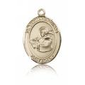 St. Thomas Aquinas Medal - 14 KT Gold - Medium, Engravable  (#83578)