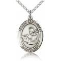 St. Thomas Aquinas Medal - Sterling Silver - Medium, Engravable  (#83579)