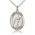 St. Tarcisius Medal - Sterling Silver - Medium, Engravable  (#83957)